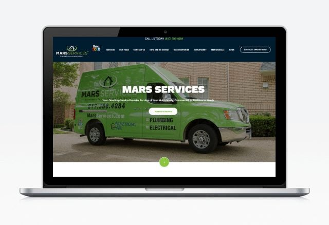 Mars Services Website Designed By Moonshot Marketing