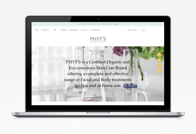 PHYT'S USA Website Designed By Moonshot Marketing